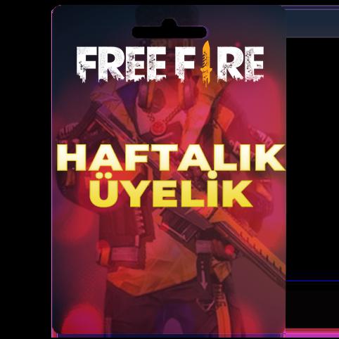 Free Fire Haftalık Üyelik- Weekly MemberShip