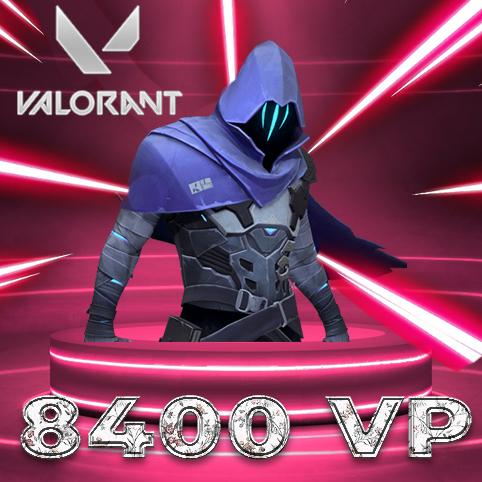 8400 VP Valorant Points